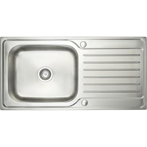 Prima1000x500 1 Bowl Deep Bowl Inset Kitchen Sink Stainless St
