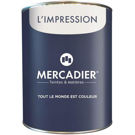 Primaire avant Peinture - Mercadier - L\'Impression - BLANC - 1 Litre