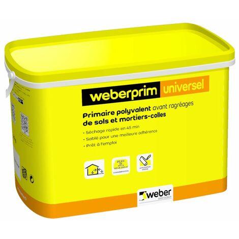 Primaire polyvalent sablé à séchage rapide WEBER PRIM UNIVERSEL - Seau de 5 kg