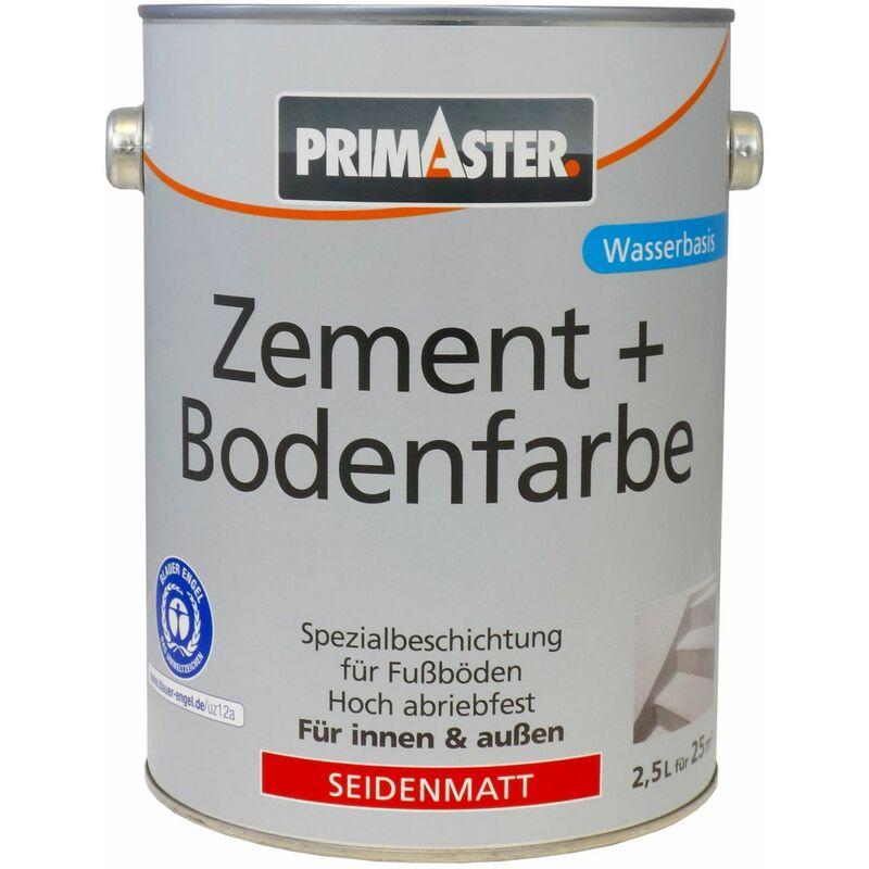 Zementfarbe und Bodenfarbe 2,5 l, weiß, seidenmatt - Primaster