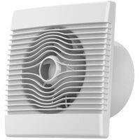 Ventilateur extracteur pour salle de bain Muni d/'une valve anti-retour de fum/ée acier inoxydable 125/mm A/érateur de cuisine moderne avec panneau avant