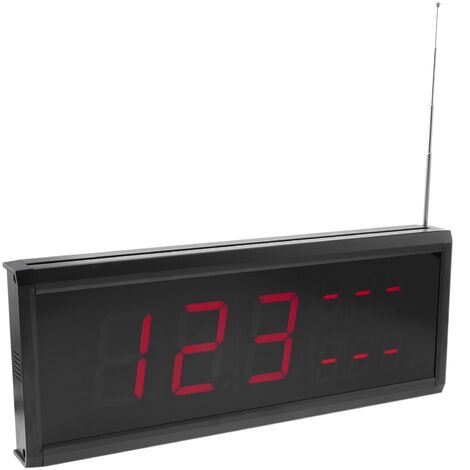 PrimeMatik - Affichage à LED pour système d'appel sans fil 410x158 mm 999 codes 3 chiffres pour restaurant