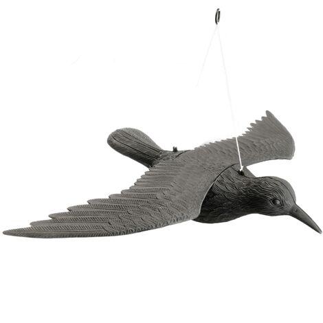 PrimeMatik - Ahuyentador de aves tipo estatua cuervo volador 58x42 cm