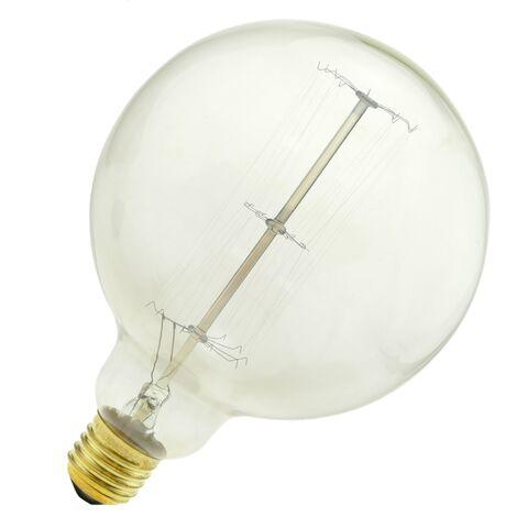 PrimeMatik - Ampoule Edison incandescence de filament 60W 220VAC E27 G125 parallèle 125x170mm