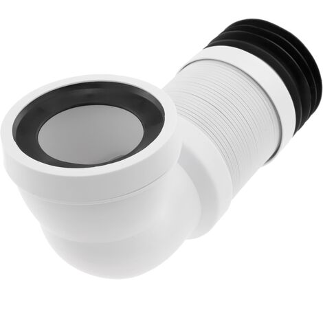 PrimeMatik - Angled toilet connection sleeve 90 ° extendable ∅ 105mm