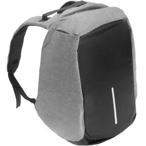 PrimeMatik - Anti-theft laptop gray backpack waterproof with USB charging port