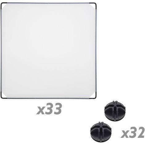 Armario Organizador Modular Estanter/ías de 9 Cubos de 35x35cm pl/ástico Blanco con Puertas PrimeMatik