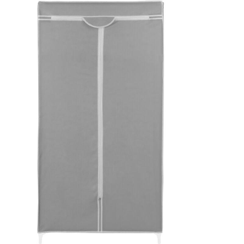 Armario ropero guardarropa de Tela Desmontable 70 x 45 x 155 cm Gris PrimeMatik