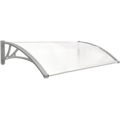 PrimeMatik - Auvent de porte et fenêtres 120x60cm Marquise solaire abri banne entrée protection gris