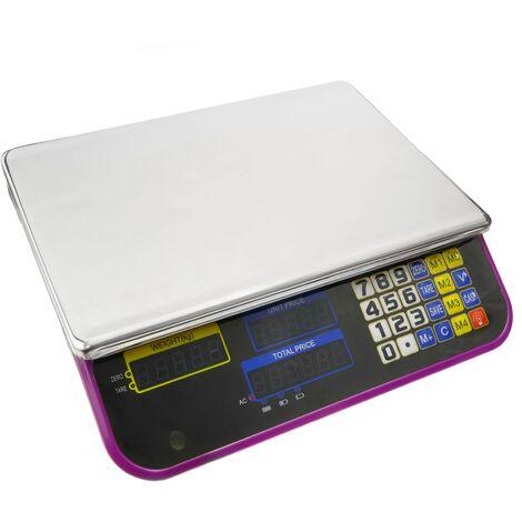 PrimeMatik - Balance de bureau avec plateau de 34x24cm 30Kg
