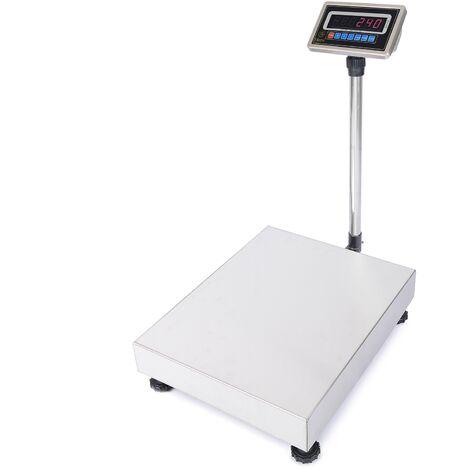PrimeMatik - Balance industrielle avec la plate-forme 60x80cm 600Kg acier inoxydable