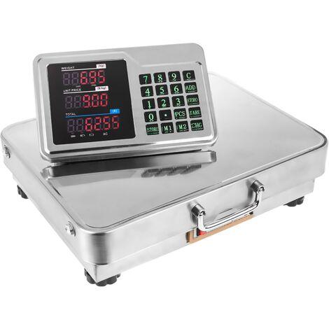 PrimeMatik - Balance industrielle avec plateforme 42x32 cm portable en acier inoxydable de 150 kg