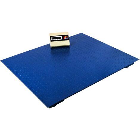PrimeMatik - Balanza industrial de plataforma 120x100 cm Báscula de suelo 4000 Kg