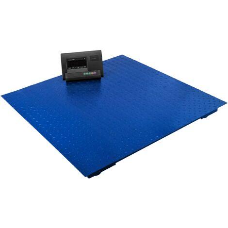PrimeMatik - Balanza industrial de plataforma 80x80 cm Báscula de suelo 4000 Kg