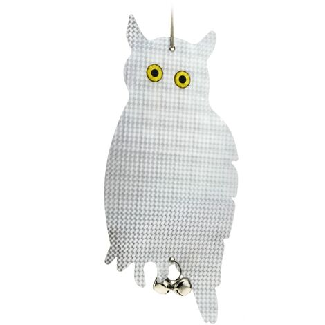 PrimeMatik - Bird repellents of birds and pests Scarecrow reflective owl with rattles