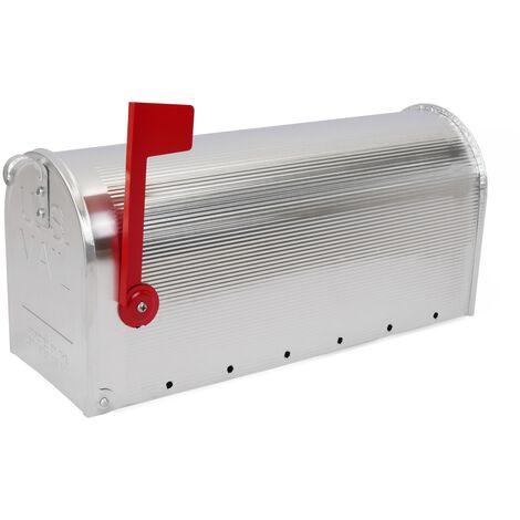 PrimeMatik - Boîte aux lettres US Mail aluminium pour courrier américain argent