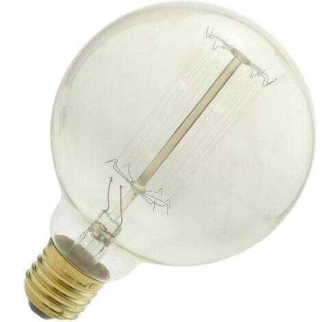 PrimeMatik - Bombilla Edison de filamentos incandescentes E27 220VAC 40W 95x142mm G95