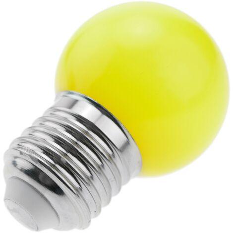 PrimeMatik - Bombilla LED G45 E27 230VAC 0,5W luz amarilla