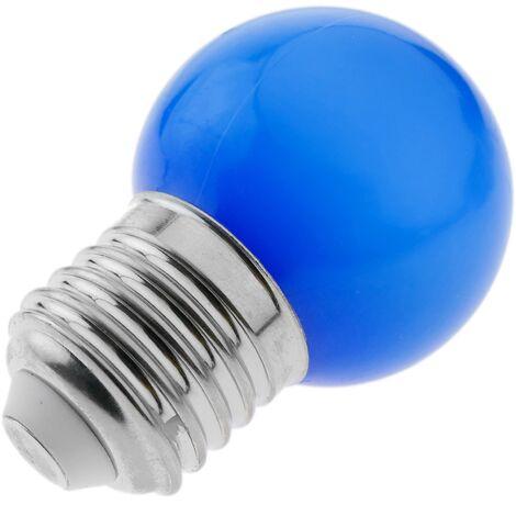 PrimeMatik - Bombilla LED G45 E27 230VAC 0,5W luz azul