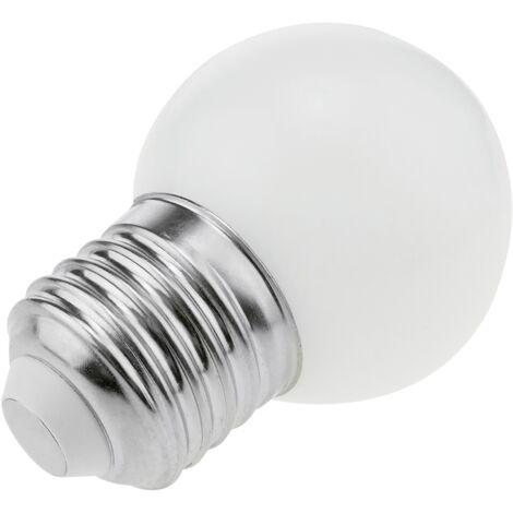 PrimeMatik - Bombilla LED G45 E27 230VAC 0,5W luz blanco cálido