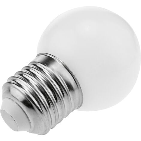 PrimeMatik - Bombilla LED G45 E27 230VAC 0,5W luz blanco frío