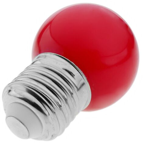 PrimeMatik - Bombilla LED G45 E27 230VAC 0,5W luz roja