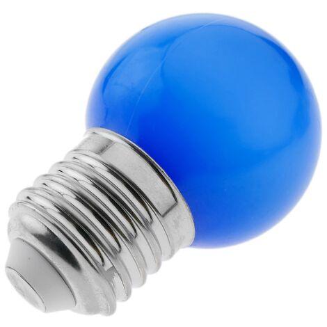PrimeMatik - Bombilla LED G45 E27 230VAC 1,5W luz azul