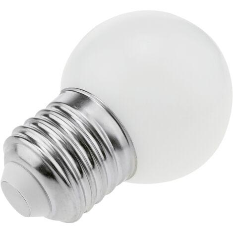 PrimeMatik - Bombilla LED G45 E27 230VAC 1,5W luz blanco cálido