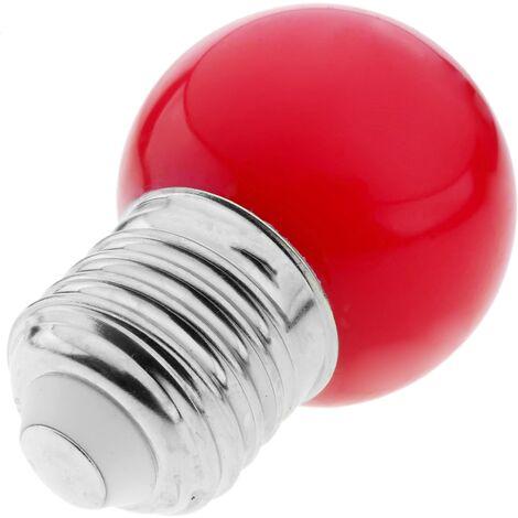 PrimeMatik - Bombilla LED G45 E27 230VAC 1,5W luz roja