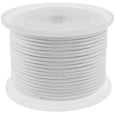 PrimeMatik - Braided polyester rope 100 m x 6 mm white