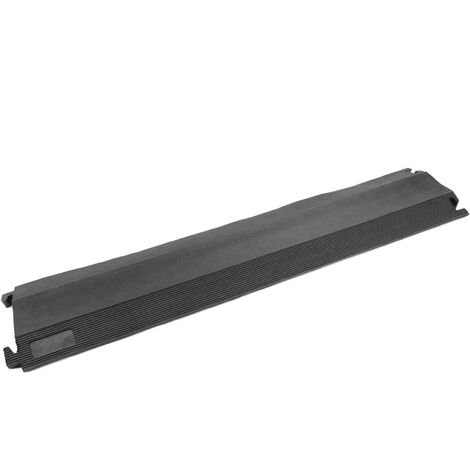 PrimeMatik - Cable floor cover protector trunking rubber bumper 1 way 102 x 21.5 cm
