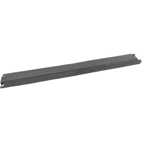 PrimeMatik - Cable floor cover protector trunking rubber bumper 1 way 102x13cm