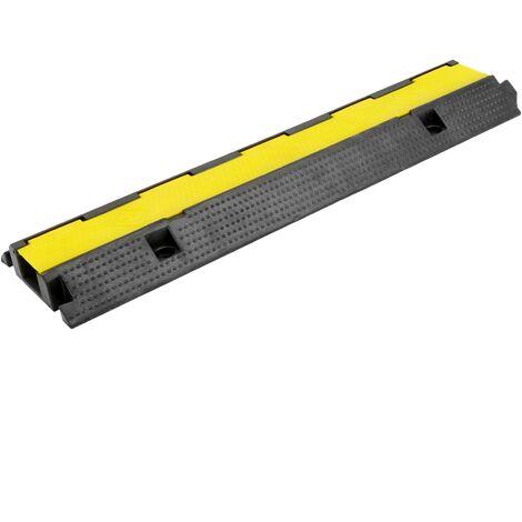 PrimeMatik - Cable floor cover protector trunking rubber bumper 1 way 99x26cm black