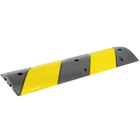 PrimeMatik - Cable floor cover protector trunking rubber bumper 2 way 99x30cm with speed hump