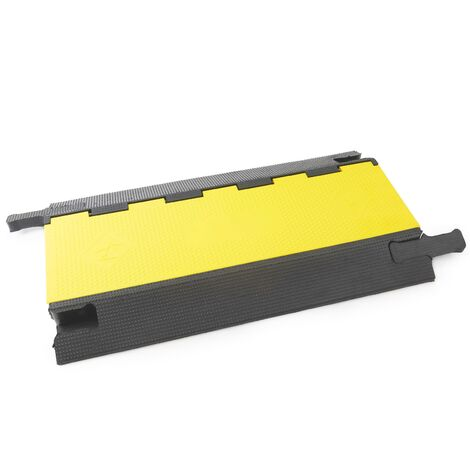 PrimeMatik - Cable floor cover protector trunking rubber bumper 3 way 90x50cm