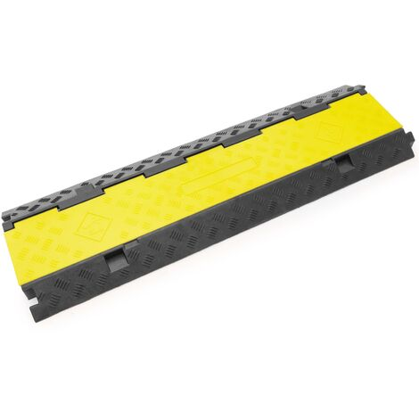 PrimeMatik - Cable floor cover protector trunking rubber bumper 3 way 99x30cm