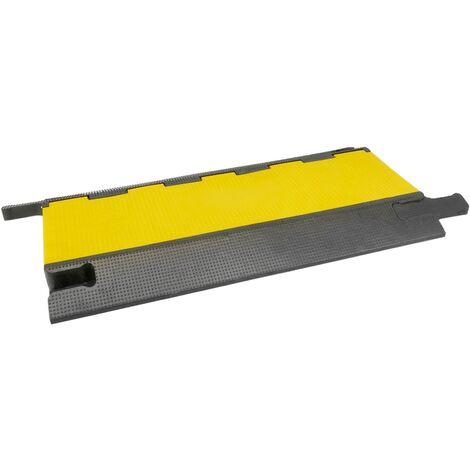 PrimeMatik - Cable floor cover protector trunking rubber bumper 5 way 90x50cm