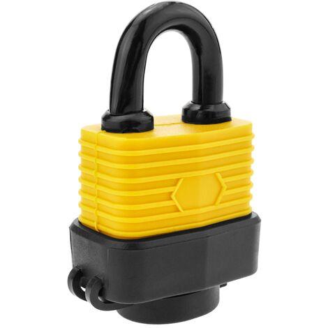 PrimeMatik - Cadenas de sécurité en acier avec protection extérieure IP44 30mm arc 62mm