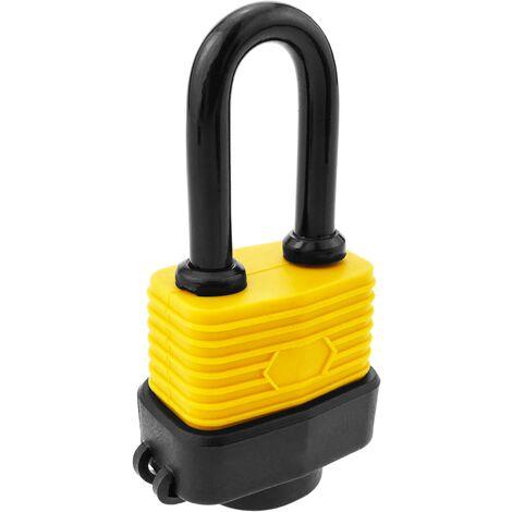 PrimeMatik - Cadenas de sécurité en acier avec protection extérieure IP44 30mm arc 80mm