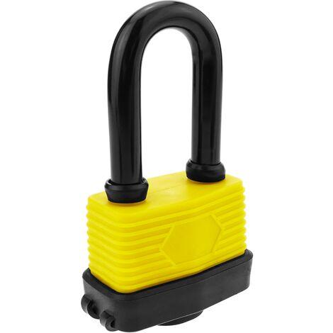 PrimeMatik - Cadenas de sécurité en acier avec protection extérieure IP44 65mm