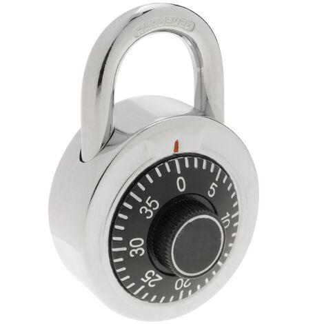 PrimeMatik - Cadenas de sécurité en acier et combinaison rotative 50mm