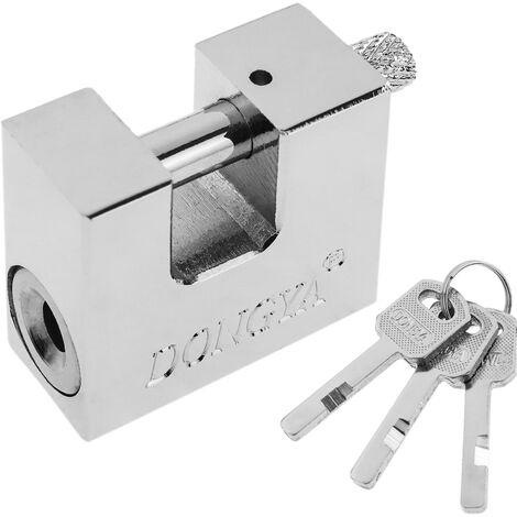 PrimeMatik - Cadenas de sécurité rectangulaire en acier avec baïonnette 40mm