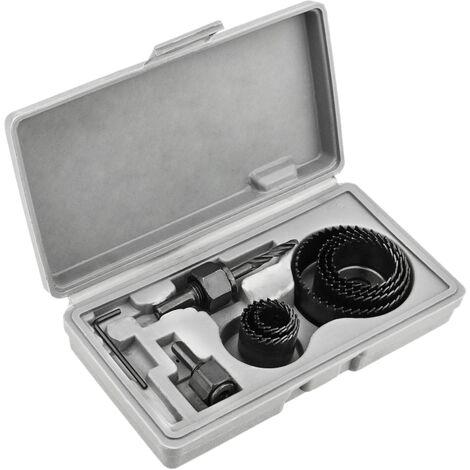 PrimeMatik - Caisse de 8 pièces scie trou pour le sciage du bois 19 21 27 30 37 44 50 62 mm