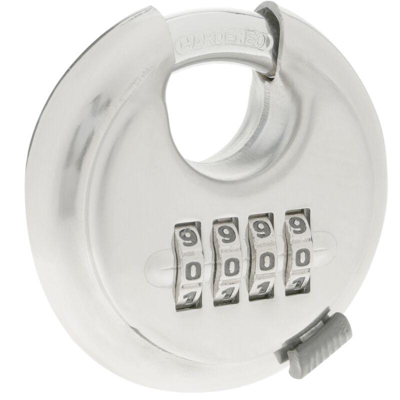 PrimeMatik Candado de Seguridad con Cable de Acero y combinaci/ón 4 d/ígitos