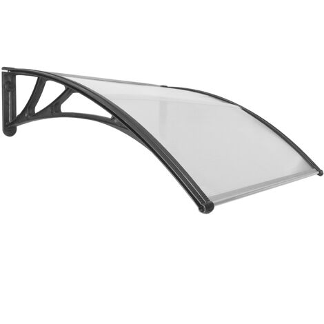 PrimeMatik - Canopy awning for door and window 100x100cm Patio cover shelter black