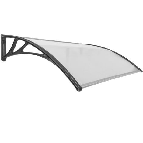 PrimeMatik - Canopy awning for door and window 150x100cm Patio cover shelter black