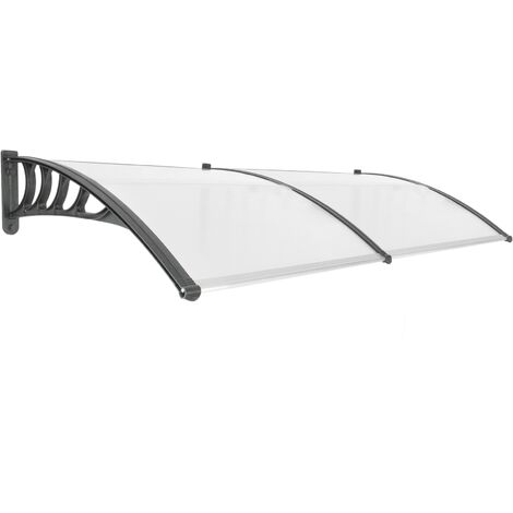 PrimeMatik - Canopy awning for door and window 200x90cm Patio cover shelter black