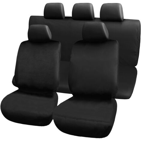 PrimeMatik - Car seat covers in black. Universal protective covers for 5 car seats