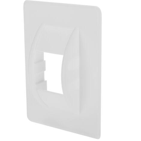 PrimeMatik - Carcasa de plástico cubre polea en color blanco