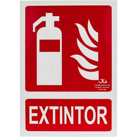 PrimeMatik - Cartel de extintor homologado de 21 x 30 cm. Señal luminiscente